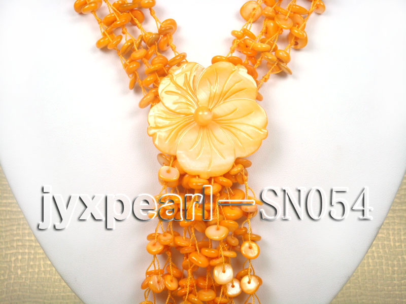 Delicate Four-strand 7.5-8mm Natural Shell Necklace  big Image 2