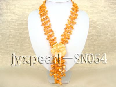 Delicate Four-strand 7.5-8mm Natural Shell Necklace  SN054 Image 1