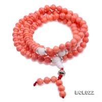 Buddhism Jewelry---Beautiful 7-7.5mm Pink Coral Prayer Beads/Bracelet BCL022