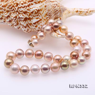 Goreous Big 11-13mm Multicolor Round Edison Pearl Necklace RPN332 Image 8