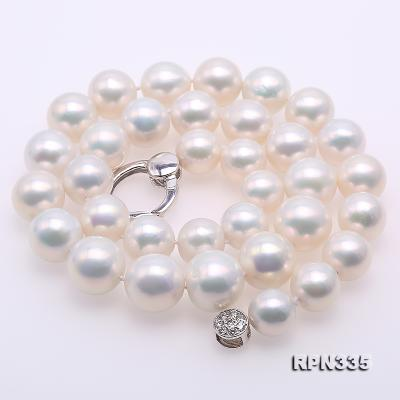 Goreous Big 11-13mm White Round Edison Pearl Necklace RPN335 Image 3