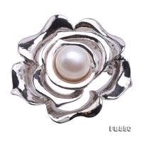 Elegant Flower-shape 10.5mm Freshwater Pearl Brooch  FB850
