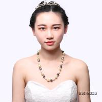 Gorgeous 8.5-12.5mm Multicolor Golden South Sea Pearl, Tahitian Pearl & White Akoya Pearl Necklace SSPN026