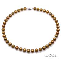 Beautiful 9.5-11.5mm Bronze Pearl Necklace RPN403