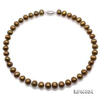 Beautiful 11-12mm Bronze Pearl Necklace RPN404
