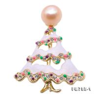 Exquisite Christmas-Tree-shape 11mm Freshwater Pearl Brooch FB755-1