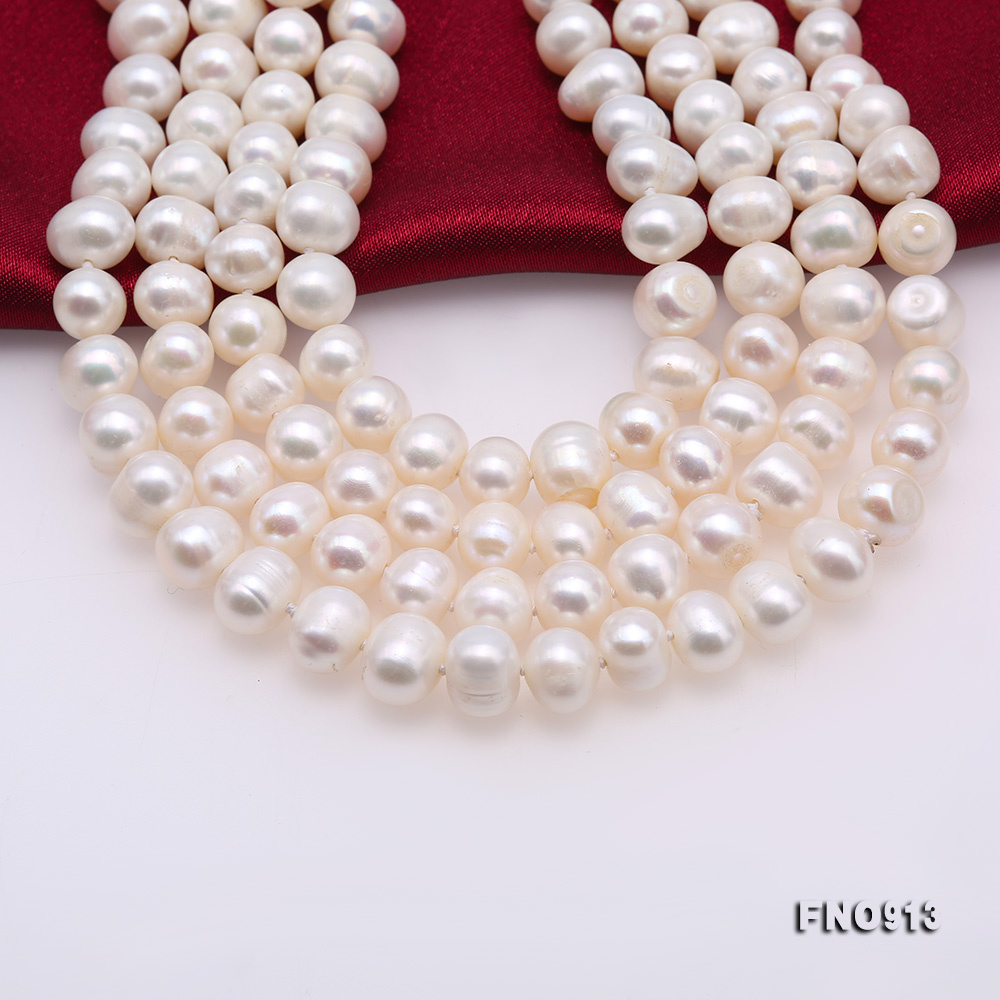 9-10mm White Freshwater Pearl Long Necklace big Image 6
