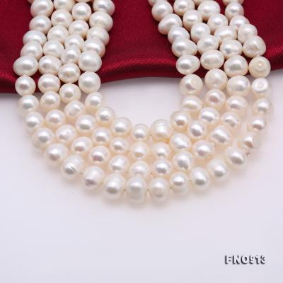 9-10mm White Freshwater Pearl Long Necklace FNO913 Image 6