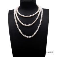 9-10mm White Freshwater Pearl Long Necklace FNO913