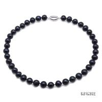 Beautiful 11-12mm Black Freshwater Pearl Necklace RPN382