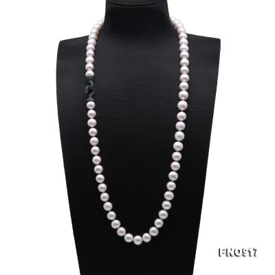 Huge Size 12.5-14mm White Round Freshwater Pearl Long Necklace FNO917 Image 1