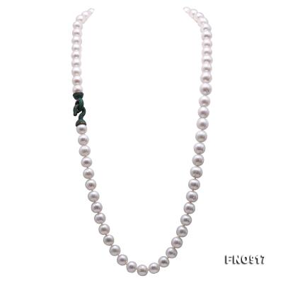 Huge Size 12.5-14mm White Round Freshwater Pearl Long Necklace FNO917 Image 6