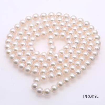 Classical 9-10mm White Round Pearl Long Necklace FNO918 Image 4