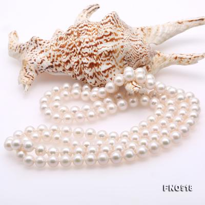 Classical 9-10mm White Round Pearl Long Necklace FNO918 Image 5