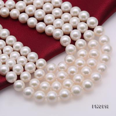 Classical 9-10mm White Round Pearl Long Necklace FNO918 Image 6