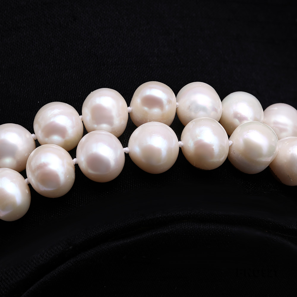 Graceful 10-11mm White Pearl Adjustable Long Necklace big Image 3