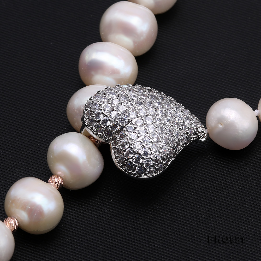 Graceful 10-11mm White Pearl Adjustable Long Necklace big Image 4