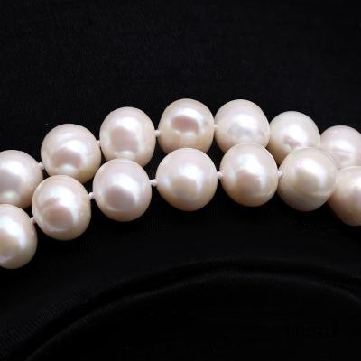 Graceful 10-11mm White Pearl Adjustable Long Necklace FNO921 Image 3