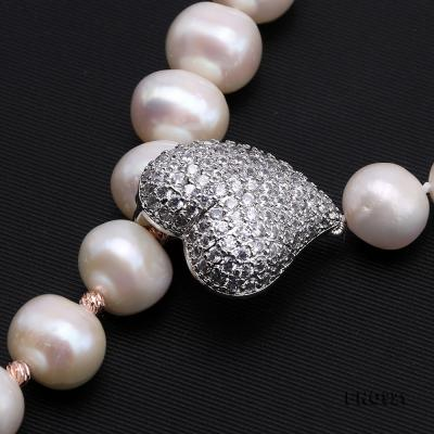 Graceful 10-11mm White Pearl Adjustable Long Necklace FNO921 Image 4