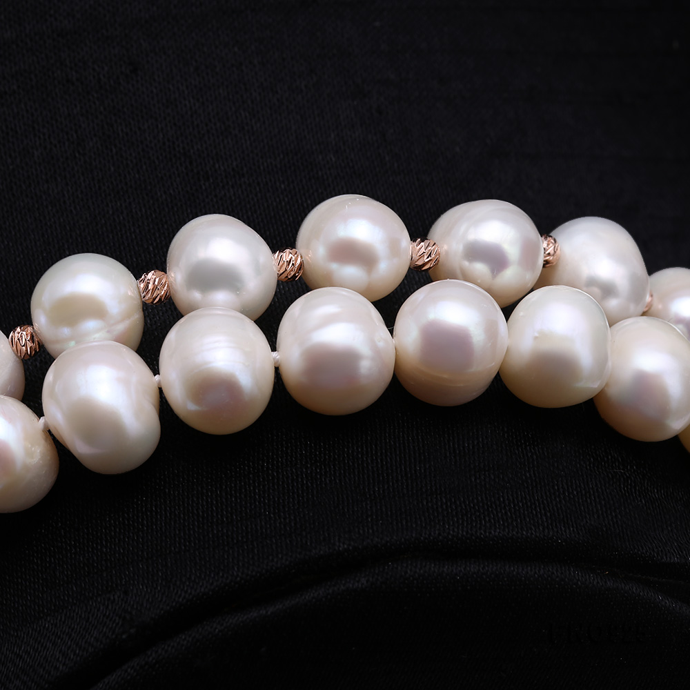 Graceful 10.5-11.5mm White Pearl Adjustable Long Necklace big Image 7