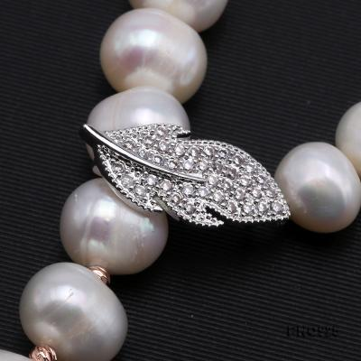 Graceful 10.5-11.5mm White Pearl Adjustable Long Necklace FNO925 Image 4