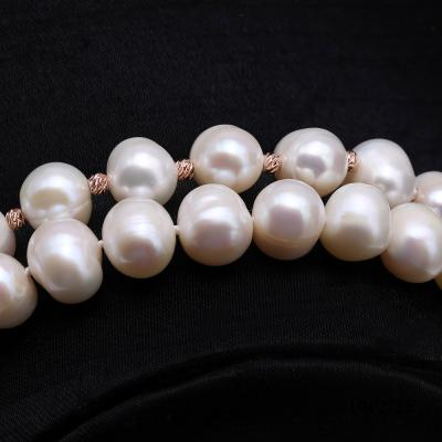 Graceful 10.5-11.5mm White Pearl Adjustable Long Necklace FNO925 Image 7