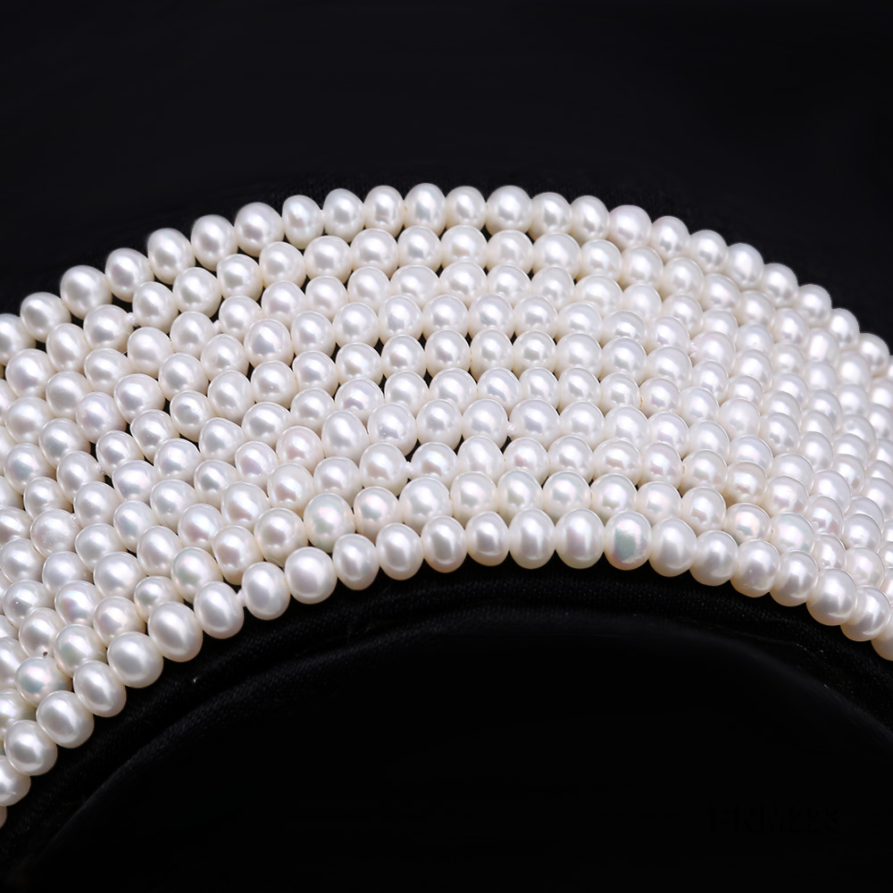 Classical Ten-Strand 4-4.5mm White Pearl Necklace big Image 2