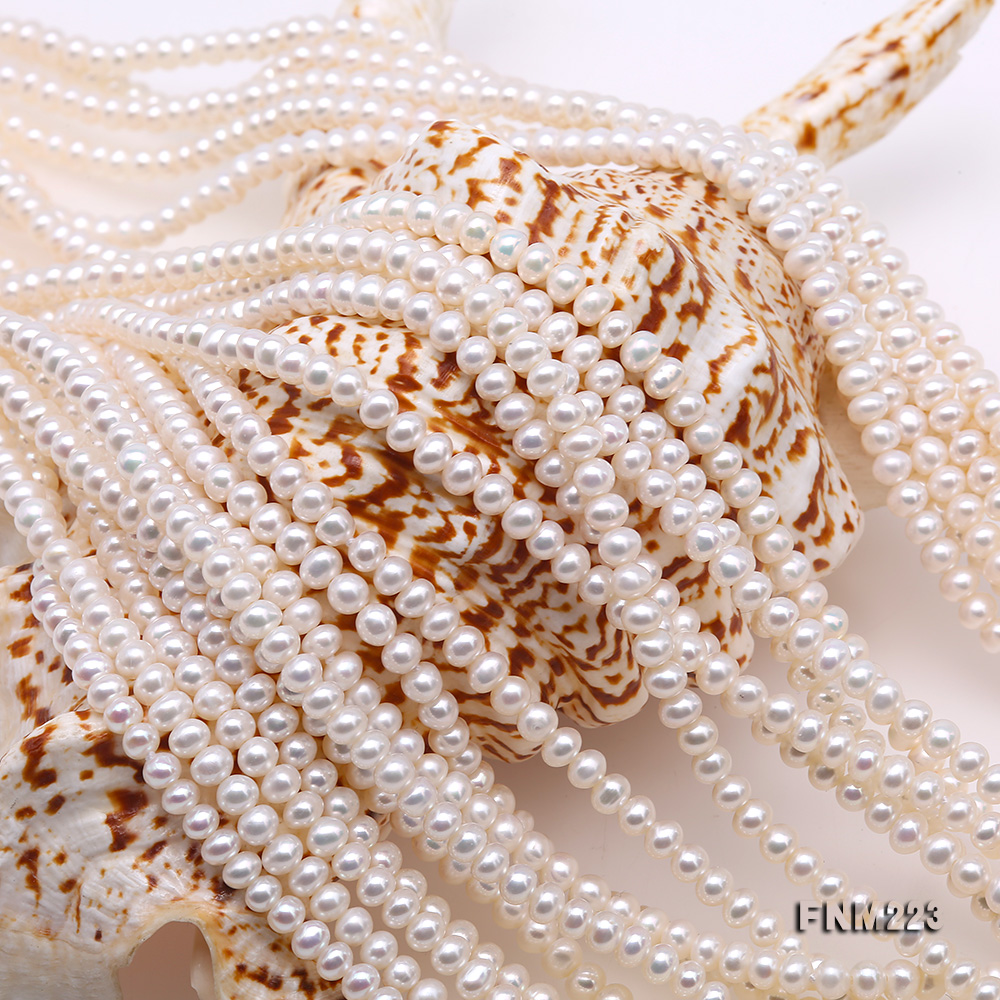 Classical Ten-Strand 4-4.5mm White Pearl Necklace big Image 4