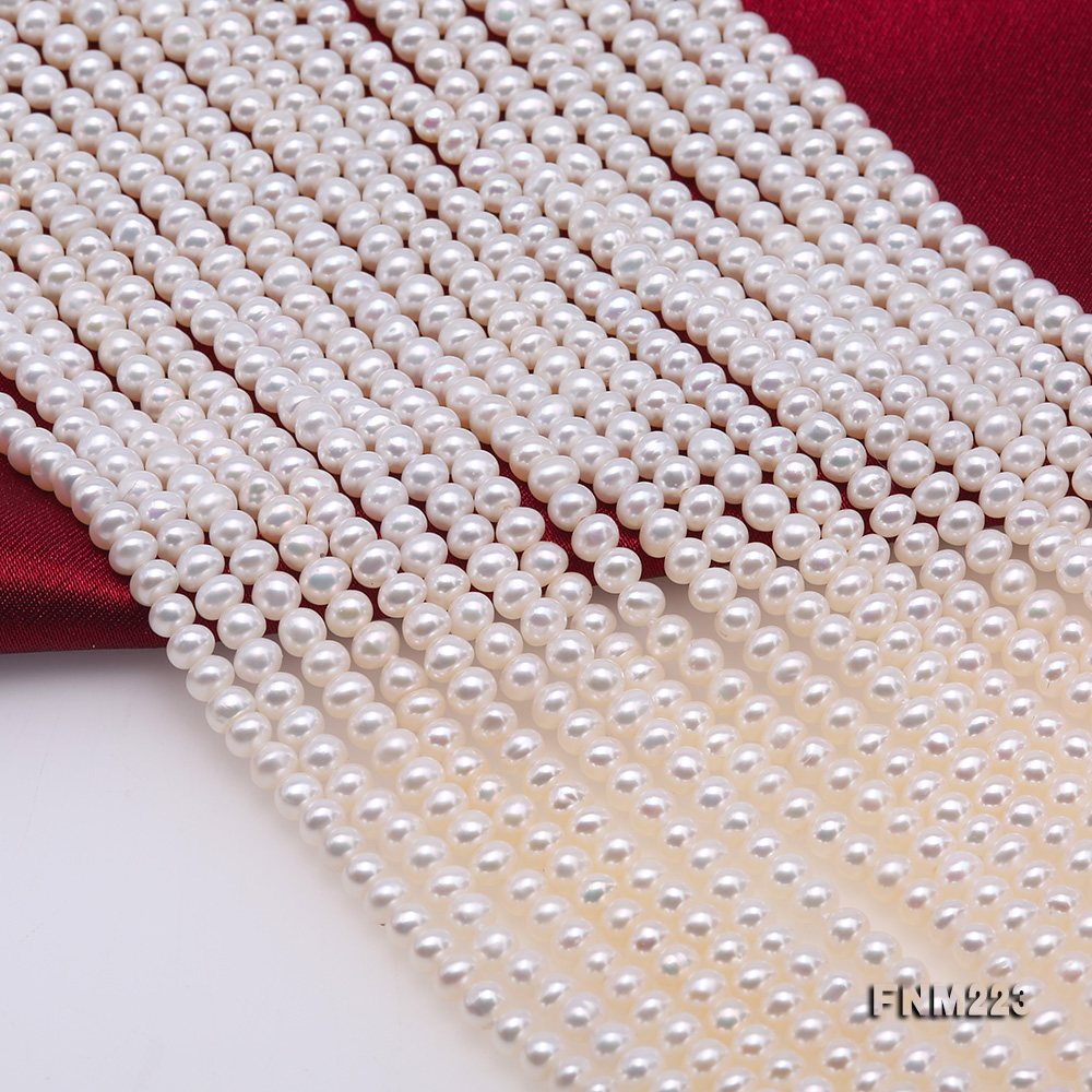 Classical Ten-Strand 4-4.5mm White Pearl Necklace big Image 6