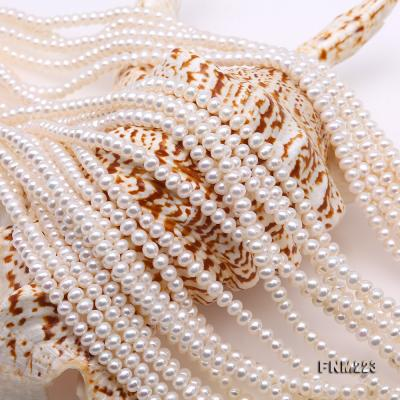 Classical Ten-Strand 4-4.5mm White Pearl Necklace FNM223 Image 4