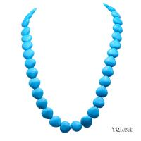 Beautiful 8x8.5mm Blue Heart-Shaped Turquoise Necklace TQN089