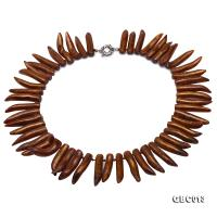 Beautiful 8.5-40mm Golden Coral Necklace  GBC013
