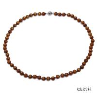 Beautiful 7-7.5mm Golden Coral Necklace  GBC014