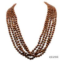 Beautiful Five-Strand 8mm Golden Coral Necklace  GBC015