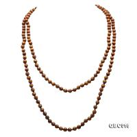 Beautiful 7mm Golden Coral Long Necklace  GBC016