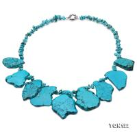 Beautiful 5×8.5-35×48mm Blue Baroque Turquoise Necklace TQN122