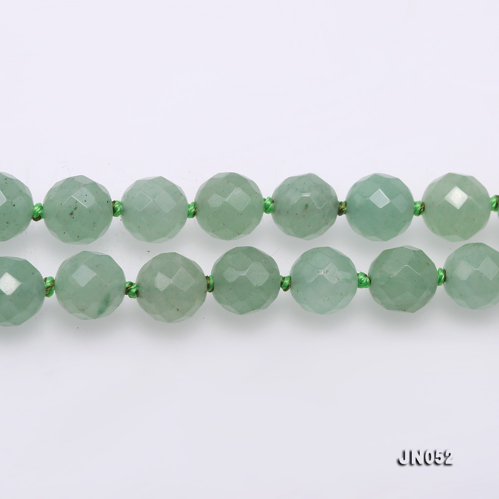 High Quality 8-8.5mm Faceted Green Aventurine Jade Necklace big Image 4