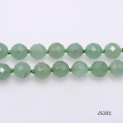 High Quality 8-8.5mm Faceted Green Aventurine Jade Necklace JN052 Image 4