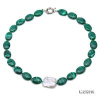 Beautiful 13×17.5mm Malachite Necklace MCN018