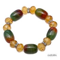 Natural Colorful Agate & Citrine Bracelet AGB054