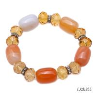 Natural Colorful Agate & Citrine Bracelet AGB055