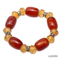 Natural Red Agate & Citrine Bracelet AGB056