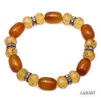 Natural Brown Agate & Citrine Bracelet AGB057