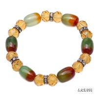 Natural Colorful Agate & Citrine Bracelet AGB058