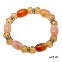 Natural Colorful Agate & Citrine Bracelet AGB059