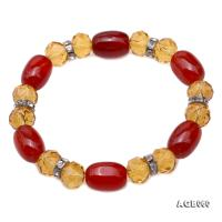 Natural Red Agate & Citrine Bracelet AGB060