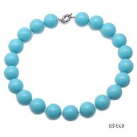 Classical 20mm Turquoise-Blue Round South Seashell Pearl Necklace  SP540