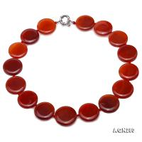 Beautiful 25mm Red Agate Necklace AGN280