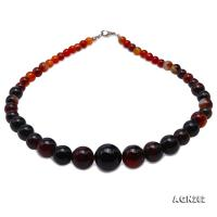 Quality 7-19mm Gradual Multi-Color Agate Necklace AGN282