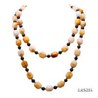 Natural 14.5x18.5mm Faceted Multi-Color Agate Necklace AGN284